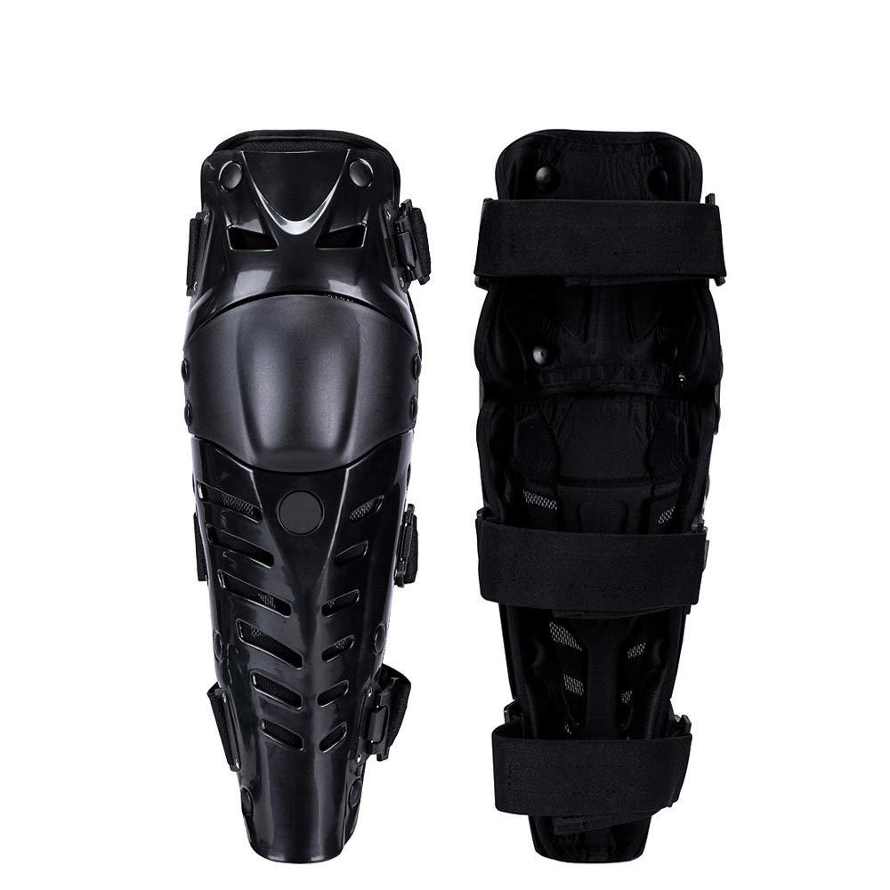 Black Motorcycle Cycling Racing Motorbike Protective Kneepads,Breathable Knee Shin Guard Protector Armor
