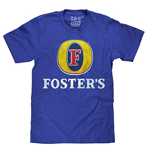 - Tee Luv Foster's Lager T-Shirt - Licensed Foster's Logo Beer Shirt (Medium) Royal Heather
