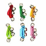 Band Wrist Bells Foot Rattles Ankle Bells Ring Toy Bracelet Pack of 6