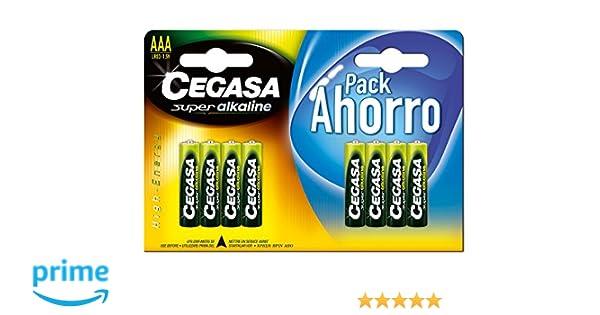 CEGASA Superalkaline - Pack 8 Pilas LR03, Color Verde: Amazon.es ...