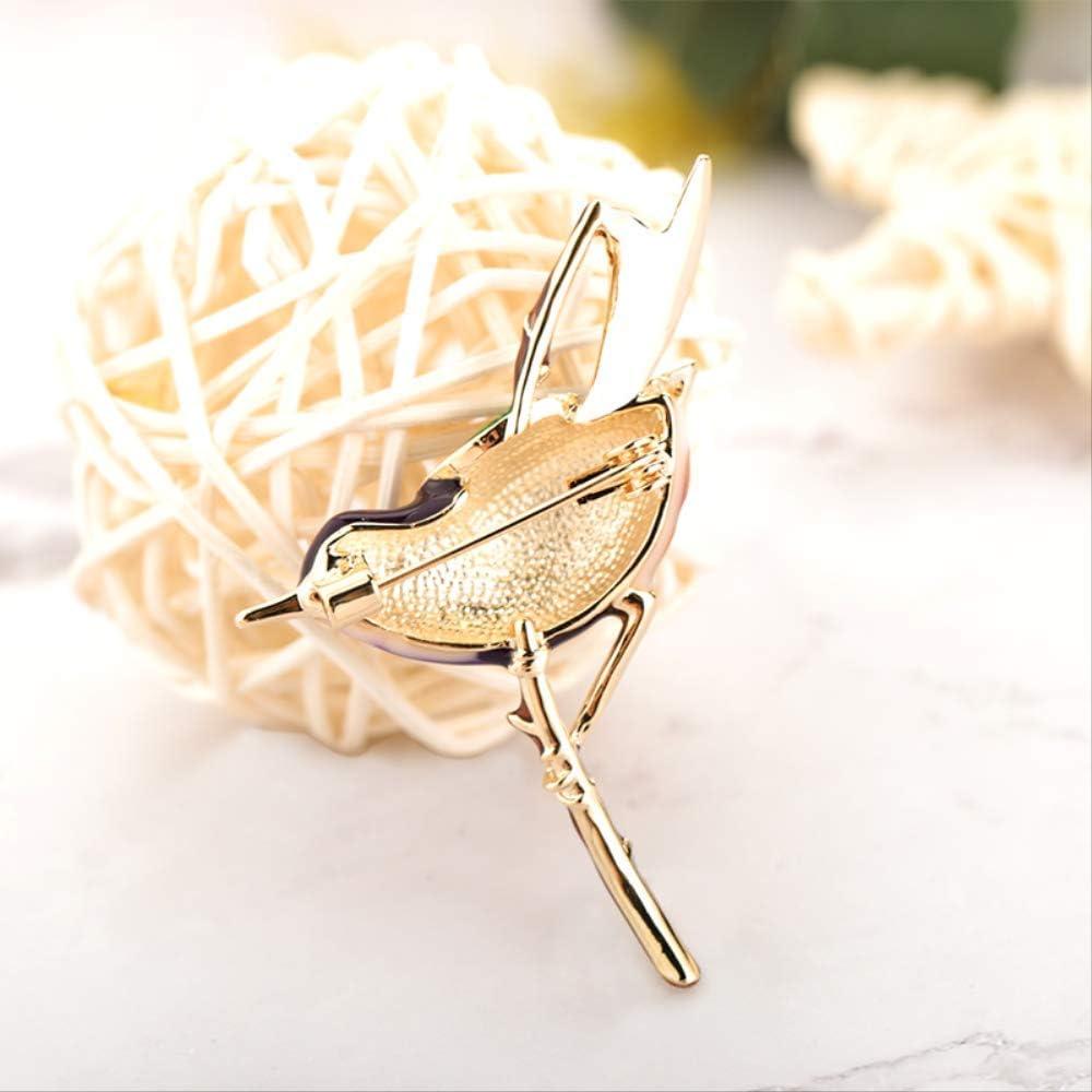 QXWLKJ SQWK color/é /émail Forme Hirondelle Broches Conception Unique Animal Oiseau Broche Dame Robe de soir/ée Revers Cadeaux 5.3x4.7 cm Jaune