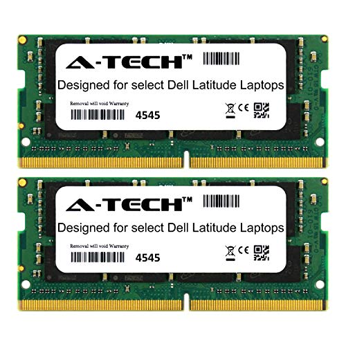 2 Series Notebook - A-Tech 32GB Kit (2 x 16GB) for Dell Latitude 7000 Series 7214 7414 7480 7490 E7214 E7414 E7480 E7490 2666Mhz DDR4 Laptop & Notebook Memory Ram Modules