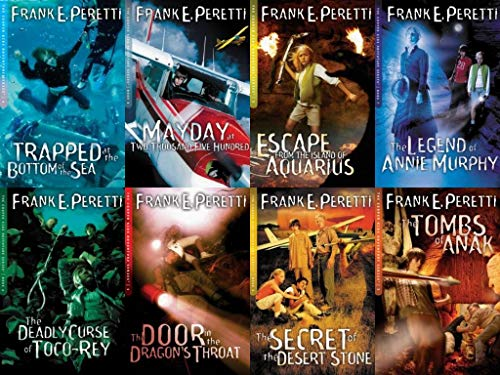 Cooper Kids Adventures Series Set of 8 Volumes Include Door in the Dragon's Throat, Escape From the Island of Aquarius, Tombs of Anak, Trapped At the Bottom of the Sea, Secret of Desert Stone, Deadly Curse of Toco-rey, and more ()