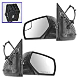 2015 chevy silverado 2500 program - Towing Upgrade Mirror Power Heat Blindspot Chrome Black Pair for Chevy Pickup