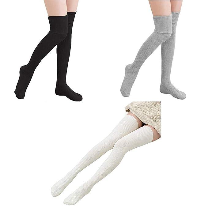 41062a49537 Leg Warmers Knee High Socks Women Cotton Thigh High Socks Knit Crochet Socks  Leggings Valentine s Day
