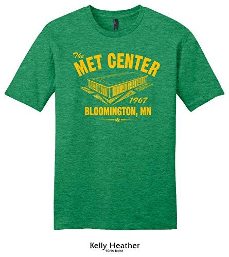 Throwbackmax 1967 Met Center Minnesota North Stars Hockey Tee Shirt (Large, Kelly Heather)
