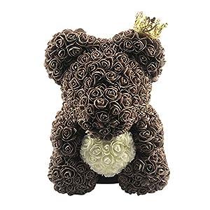 soAR9opeoF Valentine's Day Present,Love Heart Foam Rose Flower Lovely Bear Valentine's Day Birthday Romantic Gift 58