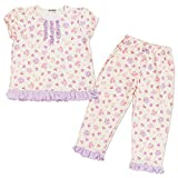 Furiously Ribbon short sleeve pyjamas (Berry) 110 cm