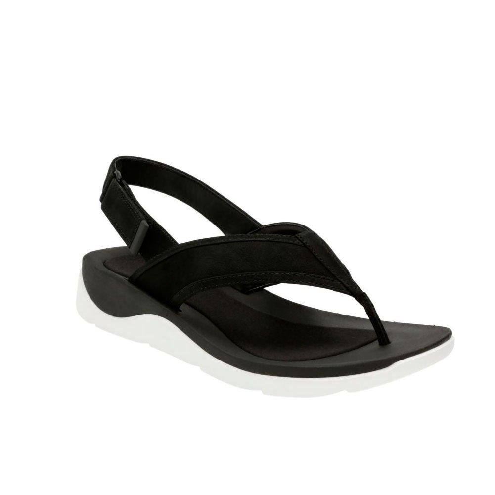 CLARKS Women's Caval Kora Sandals B011VERZVU 6 B(M) US|Black Nubuck