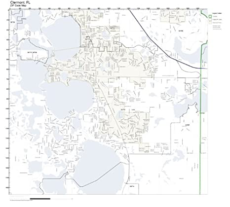 Clermont Florida Map.Amazon Com Zip Code Wall Map Of Clermont Fl Zip Code Map Laminated
