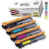 Global Cartridges Premium Compatible Toner Cartridges Set Replacement for Brother TN221 TN-221 TN225 TN-225 / High Yield TN221BK TN225C TN225M TN225Y(Black,Cyan,Magenta,Yellow)