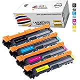 Global Cartridges Premium Quality High Yield Toner Cartridges Set Replacement for Brother TN 221 / TN 225 (Black , Cyan , Magenta , Yellow , 4-Pack)