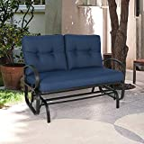 Iwicker Patio Glider Bench Swing Chair Outdoor
