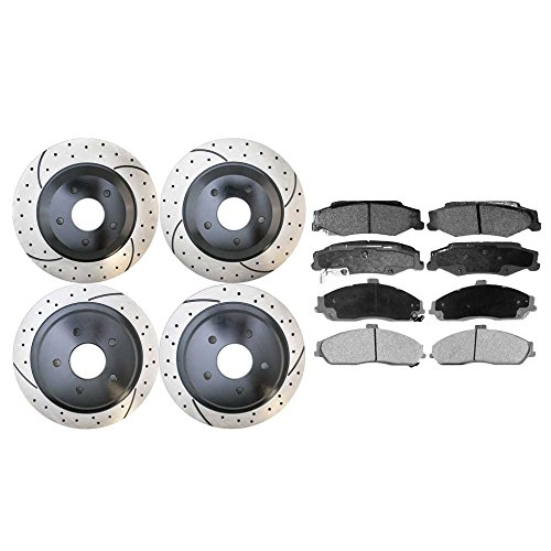 rts SCD731PR65045 Front & Rear Set of Performance Rotors and Ceramic Brake Pads ()