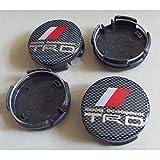 trd wheel center cap - 4pcs W101 62mm Car Styling Accessories Emblem Wheel Hub Caps Centre Cover TRD Carbon Fible TOYOTA Camry PRIUS REIZ COROLLA VIOS YARIS RAV4