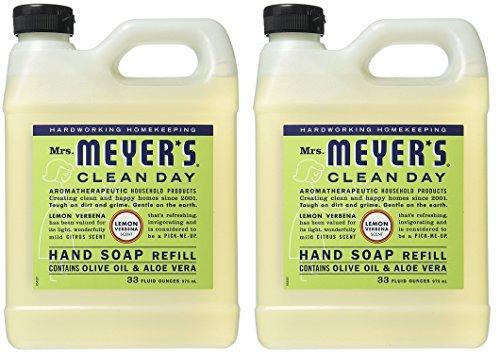 (Mrs. Meyers Liquid Hand Soap Refill Lemon Verbena, 2 Pack (33 oz))