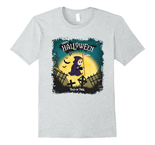 Mens Happy Halloween Witch Custumes T-Shirt, Trick Or Treat Shirt 2XL Heather (Funny Halloween Custumes)