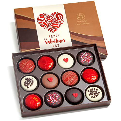Valentines Day Love Chocolate Covered Oreos Dozen Gift...