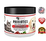 iDash Pets Advanced Probiotics Dogs Cats Best Natural Powder Pet Probiotic Supplement- Relieves Dog Bad Breath, Constipation, Skin Allergies, Diarrhea- Aids Digestive Health - 6 oz