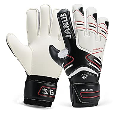 Goalkeeper Gloves with FingerSave Finger Protection, Youth and Adult, with Free Reaction Ball
