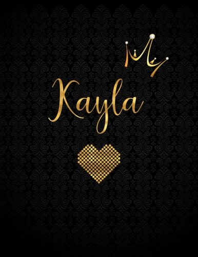 Kayla: Personalized Black XL Journal with Gold Lettering, Girl Names/Initials 8.5x11, Journal Notebook with 110 Inspirational Quotes, Journals to Write In for Women (Notebooks and Journals)