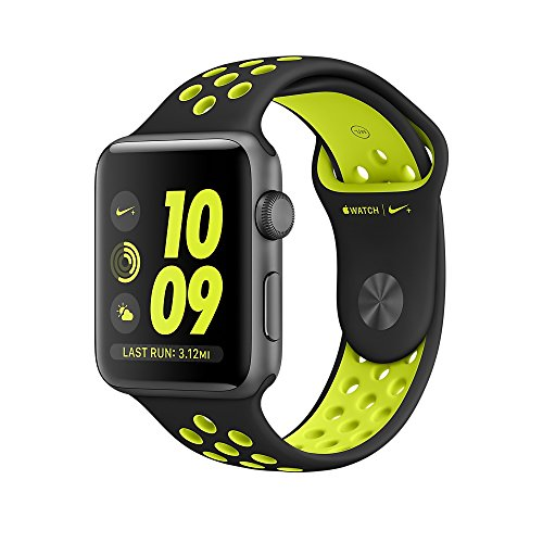 Apple Watch Nike+ 42mm Space Gray Aluminum Case with Black/Volt Nike Sport...