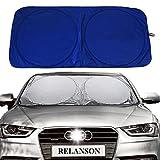 Relanson Jumbo Sun Shade for Car windshield Keeps Vehicle Cool-UV Ray Protector Sunshade(Large/63