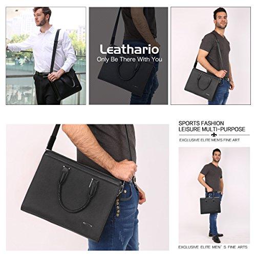 Luxueux Cuir Porte v Serviette Sac Document Leathario Sac q8B7zUBw