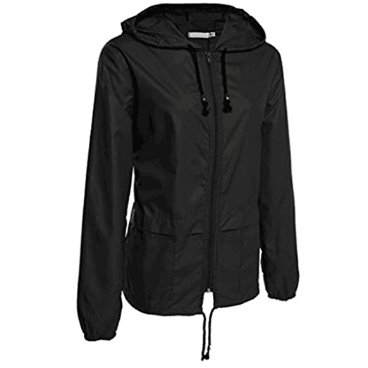 bca4cfee4 Jushye Women's Winter Outerwear, Ladies Lightweight Rain Jacket Outdoor  Packable Waterproof Hooded Raincoat Coats