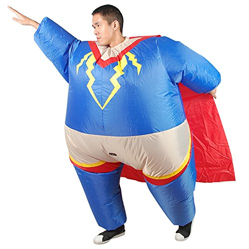 SHUISHOU Inflatable Fat Superman Captain Halloween Costumes Party Cosplay Superhero