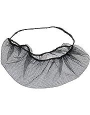 100 Pieces Disposable Nylon Honeycomb Royal Beard Protector nets, Latex Free (Black)