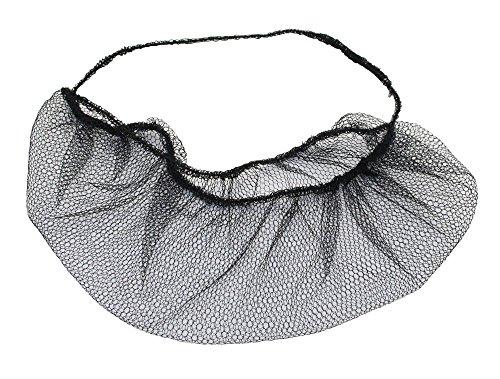 Bread Net - 100 pieces Disposable Nylon Honeycomb Royal Beard Protector nets, Latex Free. (Black)