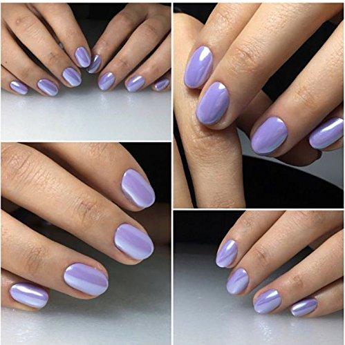 Polvere per nail art, accessori per le unghie, effetto perlato, conchiglia,  camaleonte, sirena, specchio, cromato, lucido, glitter, iridescente,  ceramica,