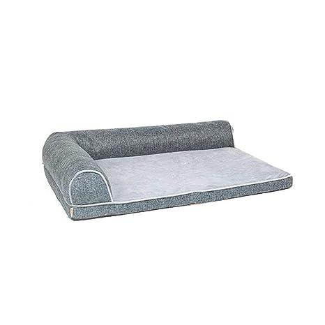 CHONGWFS Cama Extraíble Y Lavable para Mascotas Perro Grande Nido para Mascotas Sofá Creativo Azul Gris