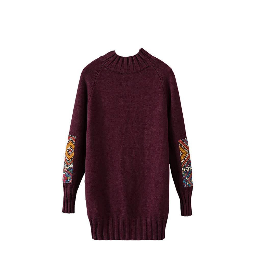 3e27835e6e9 Smallrabbit Womens Sweater Dress Vintage Longsleeve Tunic Loose Casual Knit Sweater  Pullover (Bust 90cm 35.4