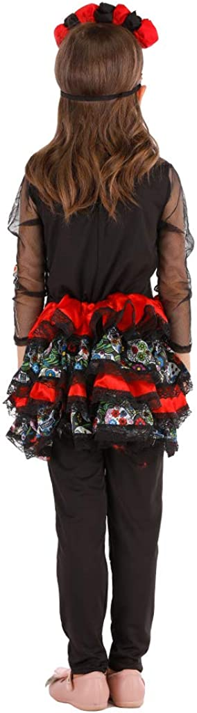 ReneeCho Girl/'s Day of The Dead Costume Halloween Mexican Skull Skeleton Dia de Los Tutu Skirt
