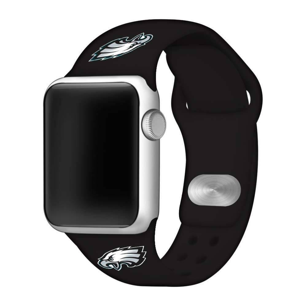 Game Time Philadelphia Eagles Silicone Sport Band Compatible with Apple Watch - Band ONLY (38mm/40mm)