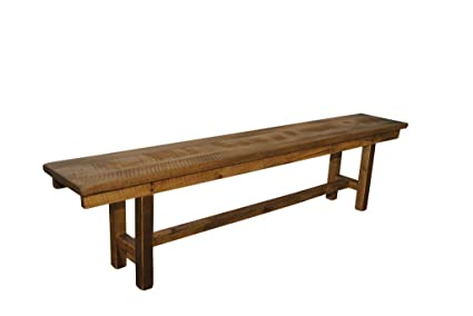 Awesome Amazon Com Rustic Reclaimed Barn Wood Plank 7 Foot Bench Ibusinesslaw Wood Chair Design Ideas Ibusinesslaworg