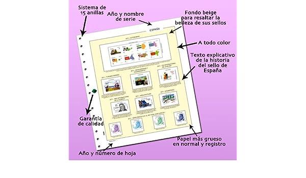 HOJAS FILABO PARA ALBUM DE SELLOS DE ESPAÑA AÑO 2001 ENTERO CARTULINA BLANCA SIN PROTECTOR: Amazon.es: FILABO: Libros