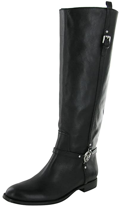 Amazon.com | Coach Women's Mulan Leather Riding Boot (Black ...