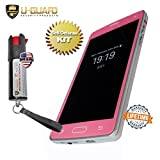 Cell Phone Stun Gun Pepper Spray Keychain Self Defense Weapons Kit. Disguised Taser To Look Like A Fake Smart Phone. Mini Non-Lethal Police Defence Spray Best Protection Tools For Men Or Women (PINK)