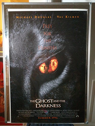 The Ghost and the Darkness Advance Michael Douglas Val Kilmer Rolled Original Double Sided 27x40 Movie Poster 1999