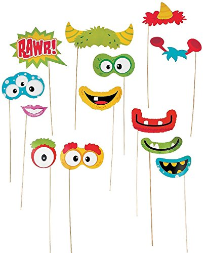 Party/Costume Monster Photo Stick Props - 24 Pack (Monster Photo Booth Props)