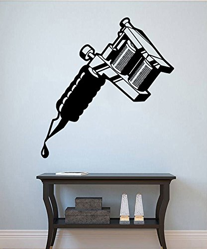 Tattoo Machine Wall Decal Tattoo Vinyl Sticker Tattoo Studio Wall ...