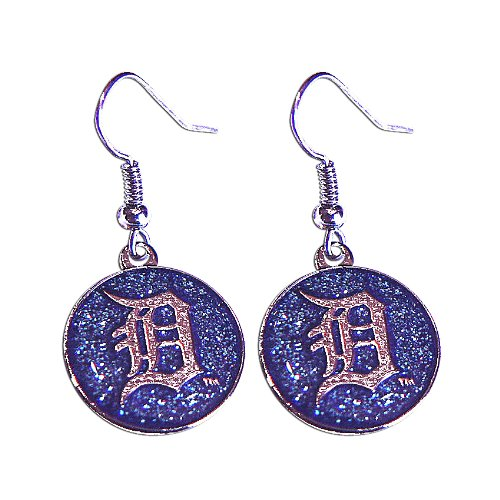 MLB Detroit Tigers Glitter Dangler Earrings -