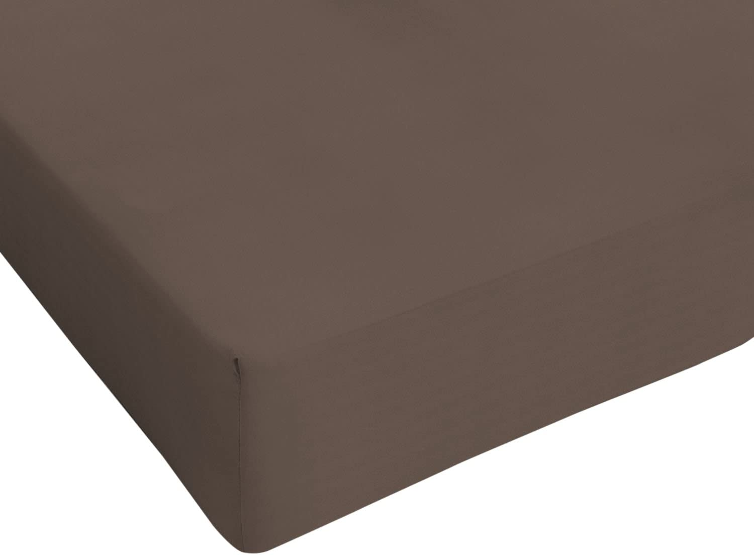 100/ /% Coton Double Chocolate Italian Bed Linen Max Color Drap-Housse