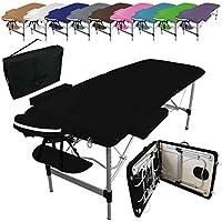 Vivezen ® Table de massage pliante 2 zones en aluminium + Accessoires et housse de transport - 10 coloris - Norme CE