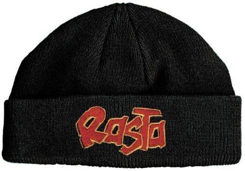 Strickmütze Wollmütze mit Einstickung -Rasta- (51026)-schwarz- Skimütze Mütze HipHop