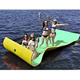 Goplus Floating Water Pad for Lakes Floating Foam Fun Mat Aqua Pad Designed for Water Recreation and Relaxing (11.5' x 6')