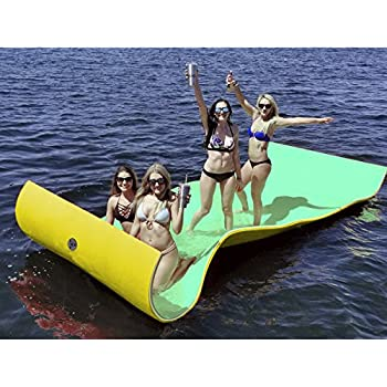 Amazon Com Big Joe Waterpad Bean Pool Float 15 By 6 Feet